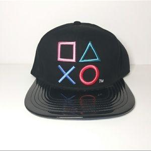 Playstation One Size Fits Most Shiny Brim SnapBack